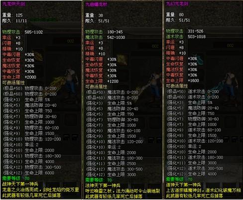 游戏中角色装备后效果图:; 龙城70积分武器如何获得 70积分武器制作