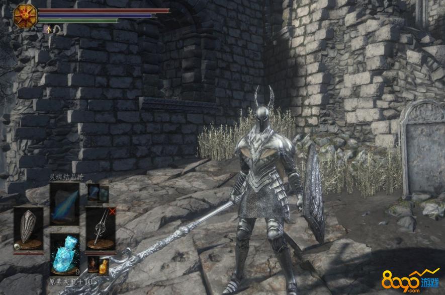 黑魂3获得暗月之剑的附魔轮滑童图片
