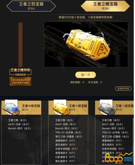 CF十月王者寶箱活動網址